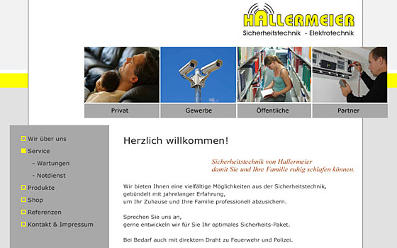 Hallermeier Website