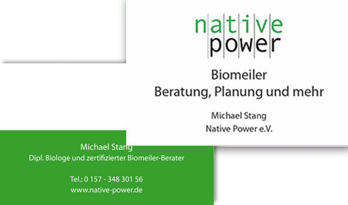 Visitenkarten native power